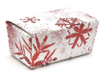 2 Choc Ballotin - Red and White Snowflake | MeridianSP