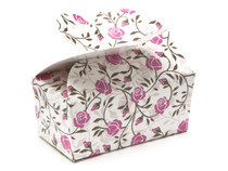 2 Choc Rose Floral Butterfly Ballotin | Meridian Speciality Packaging