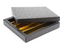 25 Choc Lukso Base, Lid and Divider Set | Meridian Speciality Packaging