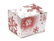 1 Choc Ballotin - Red and White Snowflake| MeridianSP