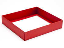 16 Choc Square Red Wibalin Base [BASE ONLY] | Meridian Speciality Packaging