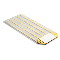 100x220 Hard Bottom Film Bag - Gold Striped | MeridianSP