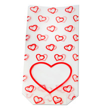 100x220 Hard Bottom Film Bag - Frosted Hearts| MeridianSP