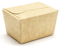100g Ballotin - Natural Kraft | Meridian Speciality Packaging