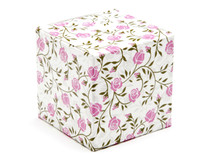 60mm Cube Carton - Rose Floral | Meridian Speciality Packaging