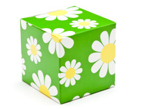 60mm Cube Carton - Daisy Floral | Meridian Speciality Packaging