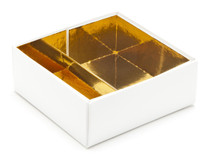 4 Choc Divider Insert - Bright Gold (to fit fold-up boxes) | Meridian Speciality Packaging