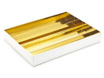 24 Choc Divider Insert - Bright Gold  (to fit fold-up boxes) | Meridian Speciality Packaging