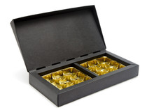 18 Choc Deluxe Gift Box - Black with Gold Vac-forme Trays| MeridianSP