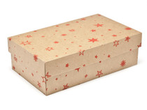 Small General Purpose Gift Box - Kraft Stars | MeridianSP
