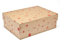 Medium General Purpose Gift Box - Kraft Stars | MeridianSP