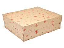 Large General Purpose Gift Box - Kraft Stars | MeridianSP