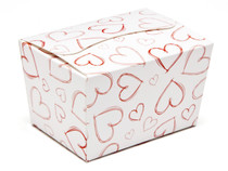 Light Hearts 100g sized Ballotin - Gift Carton Ideal for Valentine's occasions or wedding or gifting