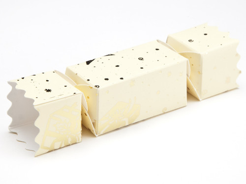 Small Twist End Cracker - Cream Trees and Presents | Meridian Speciality Packaging