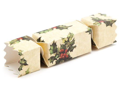 Small Twist End Cracker - Kraft Holly | Meridian Speciality Packaging