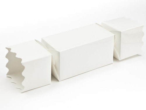 Medium Twist End Cracker - White | Meridian Speciality Packaging
