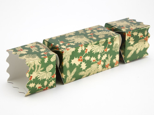 Medium Twist End Cracker - Traditional Holly | MeridianSP