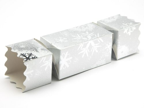 Medium Twist End Cracker - Silver Snowflake | MeridianSP