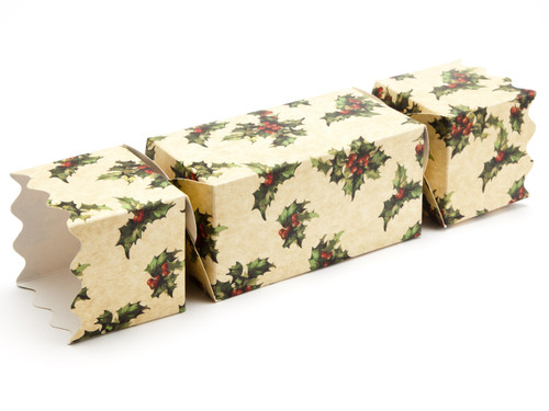 Large Twist End Cracker - Kraft Holly| MeridianSP