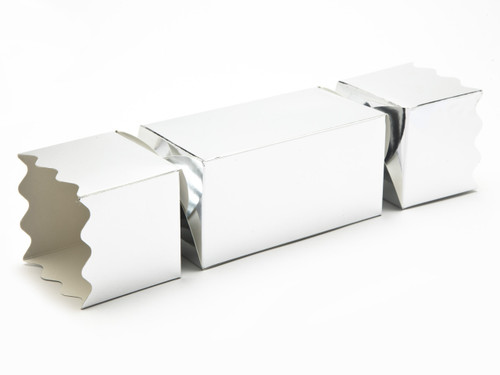 Large Twist End Cracker - Bright Silver | Meridian Speciality Packaging