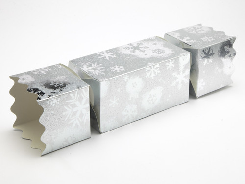 Extra Large Twist End Cracker - Silver Snowflake| MeridianSP