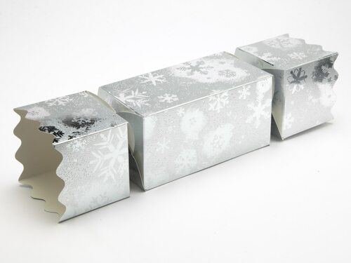 Extra Large Twist End Cracker - Silver Snowflake | MeridianSP