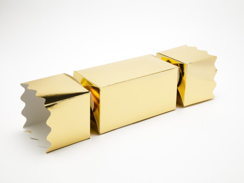 Extra Large Twist End Cracker - Bright Gold | Meridian Speciality Packaging