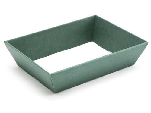 Small Shallow Card Hamper Tray - Deluxe Dark Green | MeridianSP