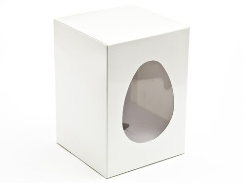 Small Easter Egg Carton and Plinth - White| MeridianSP