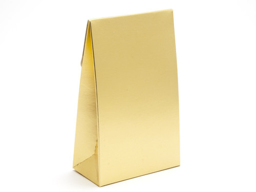 Small Matt Gold A-Frame Carton | Meridian Speciality Packaging