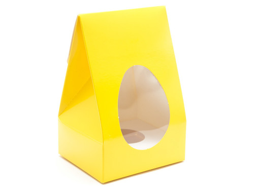 Small Sunshine Yellow Tapered Egg Ctn and Plinth | Meridian Speciality Packaging