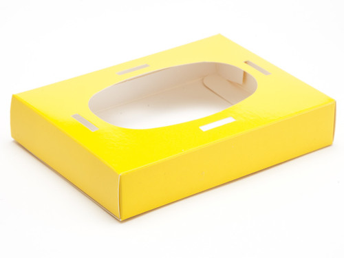 Small Sunshine Yellow Easter Egg Plinth | Meridian Speciality Packaging