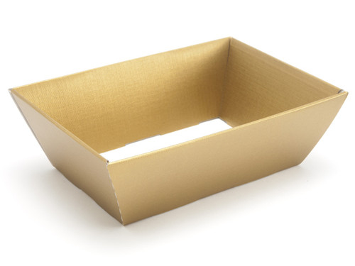 Hamper Tray - Small Card Tray Hamper - Deluxe Gold | Meridian Speciality Packaging