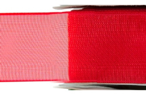 Red Chiffon Ribbon (x1 reel 25mtr) | Meridian Speciality Packaging