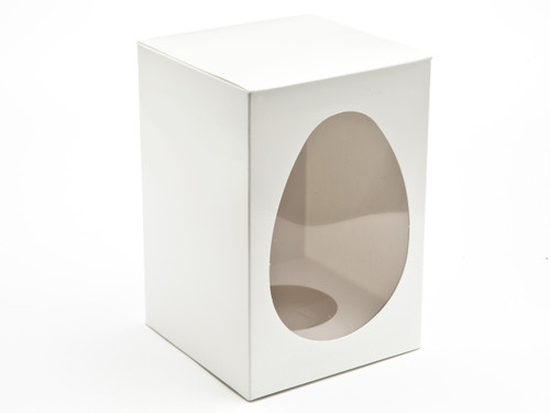 Medium White Easter Egg Carton and Plinth | Meridian Speciality Packaging