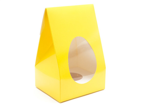Med Sunshine Yellow Tapered Egg Ctn and Plinth | Meridian Speciality Packaging