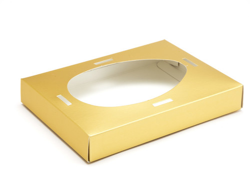 Medium Matt Gold Easter Egg Plinth | Meridian Speciality Packaging