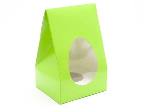 Medium Tapered Easter Egg Carton and Plinth - Vibrant Green | MeridianSP