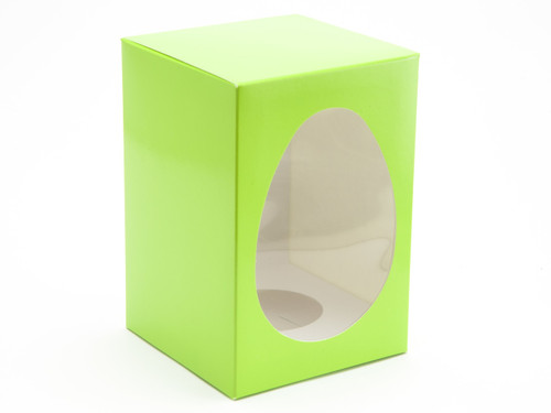 Medium Easter Egg Carton and Plinth - Vibrant Green| MeridianSP