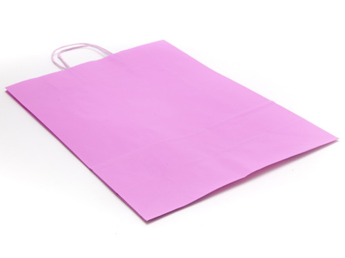 Large Pink Kraft Paper Carrier | Meridian Speciality Packaging