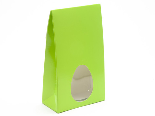 Large A-Frame Carton with Oval Window - Vibrant Green | MeridianSP