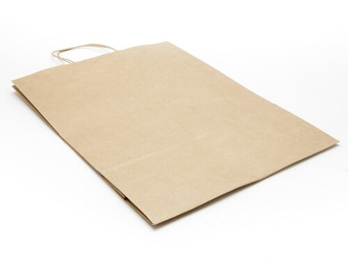 Lge Premium Ribbed Kraft Paper Carrier | Meridian Speciality Packaging