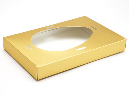 Large Matt Gold Easter Egg Plinth | Meridian Speciality Packaging