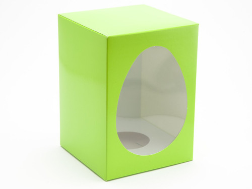 Large Easter Egg Carton and Plinth - Vibrant Green | MeridianSP