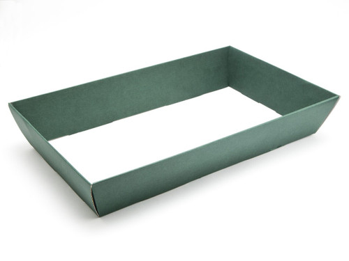 Hamper Tray - Large Card Tray Hamper - Deluxe Dark Green | Meridian Speciality Packaging