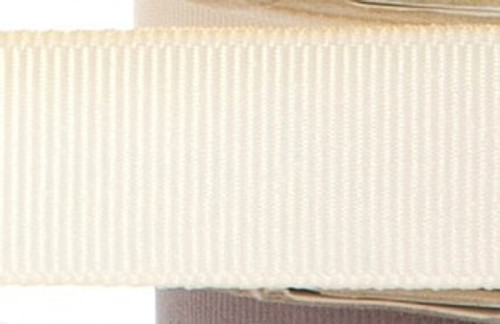 Grosgrain Fabric Ribbon - Ivory - (x1 reel 20mtr) | MeridianSP