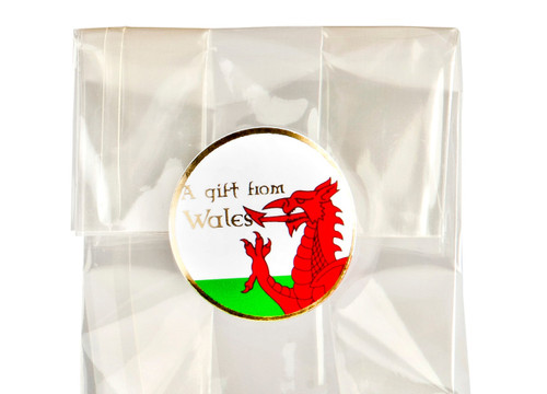 32mm Round Gift Label - A Gift from Wales - (250pcs)| MeridianSP