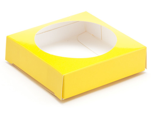 Ex Small Sunshine Yellow E Egg Plinth | Meridian Speciality Packaging