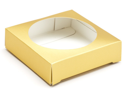 Ex Small Matt Gold Easter Egg Plinth | Meridian Speciality Packaging