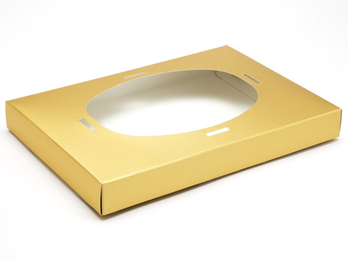 Ex Large Matt Gold Easter Egg Plinth | Meridian Speciality Packaging